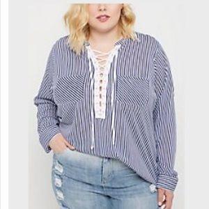 Rue21 Stripped Long Sleeve shirt